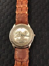 Walt Disney World 2000 Watch PR-1390 Quartz Brown Braided Leather Strap