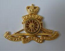 British Army Royal Artillery Officers Gilt Cap Badge