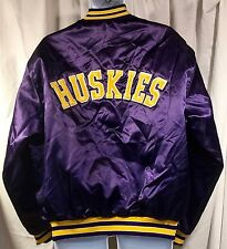 VTG Swingsters Purple Washington Huskies Nylon Jacket Sz XL - Quilted Hipster