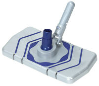 Swimming Pool Vacuum Head w/Brushes & Wheels For Concrete or Fiberglass Pools