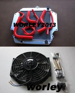 Aluminum radiator + Red hose + fan for SUZUKI SIERRA 1.3 SJ413 1984-1996 manual