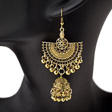 Drop Bell Women's jhumka Earrings Jewelry Fashion Gold Fan Shaped Bohemia Hook