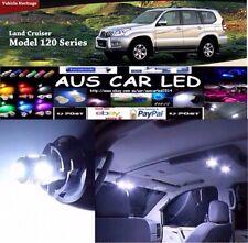 Toyota Land cruiser Prado 120 White Interior LED bulb Light Upgrade Kit 13pcs