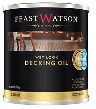 Feast Watson Wet LOOK Decking Oil 250ml Water Washup Hybrid Technology