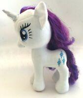 "2014 Hasbro 13"" My Little Pony Sparkle Plush Unicorn White Purple Stuffed MLP"