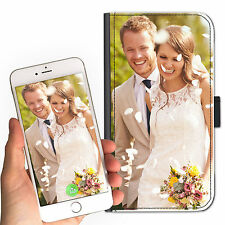 PERSONALISED CUSTOMISED CUSTOM IMAGE LEATHER WALLET/FLIP MOBILE PHONE CASE COVER