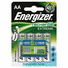 8 X Energizer AA 2300mah Rechargeable Batteries NiMH Extreme