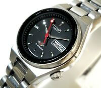 CITIZEN 7 AUTOMATIC WIND DAY DATE DESIGNER BLACK  DIAL 26MM CASUAL LADIES WATCH