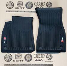 Audi A6 C8 4K original S6 Fußmatten Gummimatten vorne Gummifußmatten rubber mats