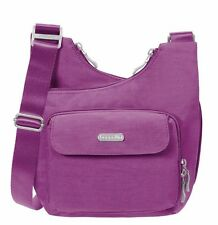 Baggallini Criss-Cross Crossbody Bag in Magenta w/Skylight Lining (SALE!)
