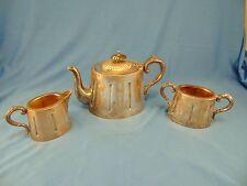 Vintage Sheffield silverplate tea coffee pot creamer sugar bowl made England art