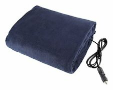 Electric Car Blanket- Heated 12 Volt Fleece Travel Throw for Car and Rv-Great by