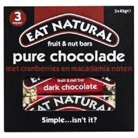 Eat Natural Fruit & Nut Pure Chocolate Original Breakfast Cereal Bar 150G