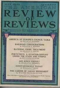 1923 Review of Reviews May-Porto Rico under the U.S.; Women and prisons; Russia