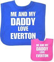 BabyPrem Baby Clothes Boys Girls I Daddy Love EVERTON Feeding Bib Shower Gift