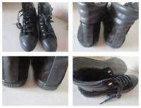 POLO RALPH LAUREN Mens Black Boot Suede & Leather Trainer UK8 / EU42 RRP £129