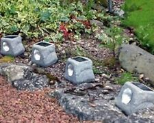 4 Garden Solar LED Rock Lights