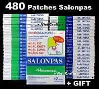 Lot 480 = 40 x 12 Patches Plasters Hisamitsu Salonpas Muscle Pain Relief + GIFT