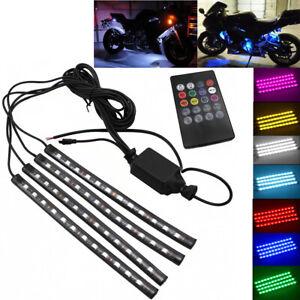 12LED Light Strip RGB 5050 For Kawasaki Versys 650/1000 KLE 650/1000 KLZ1000 ZRX