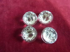 bv15/ 4 buttons glass transparent 1/2boule smooth dia18 4 glass buttons botones