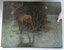 Vintage wooden hand cut push fit puzzle - Monarch of the Woods - McGargle jigsaw