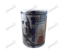 BULK Buys Wholesale Multi Color 100 Dollar Bill Tin Money Bank Set of 24