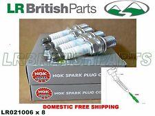 LAND ROVER SPARK PLUG RANGE ROVER 2003-2005 4.4L V8 SET OF 8 NGK NEW LR021006