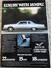 1978 Buick Electra 2 dr sedan car ad