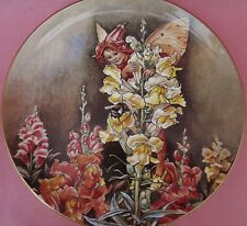 THE SNAPDRAGON FAIRY PLATE THE FESTIVAL OF FLOWER FAIRIES CICELY MARY BARKER