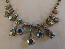 COLLIER D'OPERA STRASS CRISTAL  ART DECO  /VINTAGE  CRISTAL  NECKLACE ref10