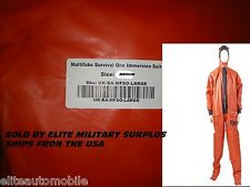 Multifabs Survival One Immersion Suit size Medium  British Navy water disaster