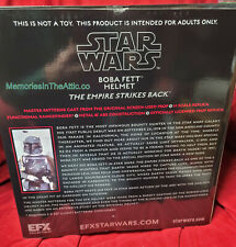 EFX Precision Replica Star Wars Empire Strikes Back Movie Boba Fett Helmet PROP