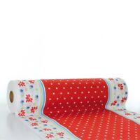 Tischläufer Lea in Rot aus Linclass® Airlaid 40 cm x 24 m - Einweg Tischdecke