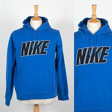 Nike Sudadera con capucha para hombre con capucha Sudadera Azul Suéter Jumper ejecutar Fitness L Gráfico