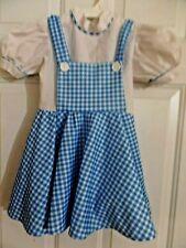 Girls Dorothy ( Wizard of Oz) Dress Halloween Costume sz S