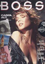 BOSS magazine n. 7  1994  Carol Alt Valeria Golino Demi Moore