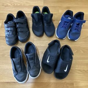 Bundle Of Boys Size 1 Shoes Trainers School Shoes Sandals Nike Adidas
