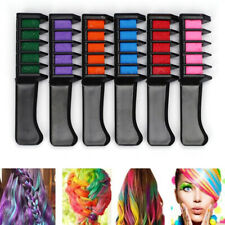 6 x Dye Disposable Temporary DIY Color Hair Comb Chalk Tool Kit Highlight
