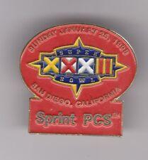 """SUPER BOWL XXXII - SUNDAY JANUARY 25, 1998 - SAN DIEGO, CA - SPRINT PCS"" Pin"