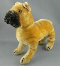 Steiff Sarras Boxer Dog Mohair Plush 17 cm 1950s 60s Glass Eyes no ID Vintage