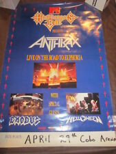 Anthrax Headbangers Ball Live Road to Euphoria Exodus Cobo Arena Concert Poster