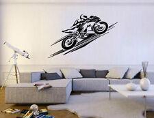 ik283 Wall Decal Sticker Decor sports moto motorcycle bike racer adrenaline