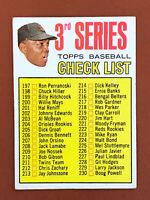 1967 Topps Checklist Willie Mays Card #191 3rd Series EX - Giants HOF
