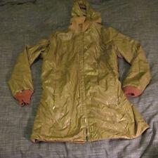 Vintage Ernst Engel Reversible Water Repellent Ladies Coat with Hood Large L NR