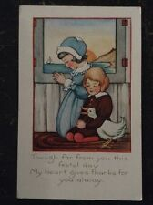 ...My Heart Gives Thanks For You Alway - Children Praying, Goose & Sunset