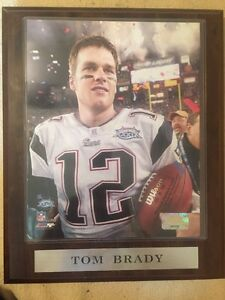 Tom Brady Super Bowl XXXIX 2005 PHOTO WALL PLAQUE N.E.Patriots PhotoFile 10 X 13