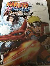 Naruto Shippuden: Dragon Blade Chronicles (Nintendo Wii, 2010) Complete
