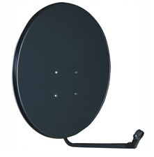 Satellite Dish 80cm & Quad LNB For SKY PLUS HD Freesat Hotbird Polsat Zone 2