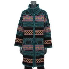 33725 auth M MISSIONI petrol pink beige wool Turtleneck Knit Coat Jacket 44 L