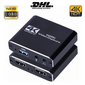 HDMI to USB3.0 Video Capture Card Dongle 4K Audio Adapter Grabber 2021 Neu